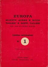 HN Bobba C. EUROPA MONETE AUREE E SCUDI TALLERI E DOPPI TALLERI  dal 1800