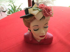 CAMEO GIRLS   LADY HEAD VASE LV-003 EVE 1948 TEA PARTY 2000 W BOX