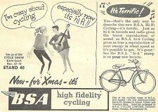 BSA 'Hi Fi' High Fidelity Cycling Advert - Original 1960