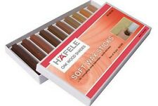 New SOFT WAX STICK ASSORTMENT WOOD FILLER STICKS Pack of 10 Oak shades HAFELE