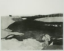 WOLFGANG WERKMEISTER - Ein Fluß mündet ins Meer - Radierung / Aquatinta 1968