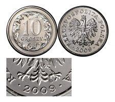 Polen Poland  coin 10 groszy grosz 2009 UNC  - Mint condition