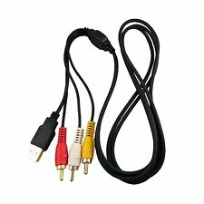 ARE Cable Gold 3 RCA Male to USB 6 Ft Converter Video TV Audio Computer Adapter