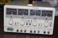 GW Instek  GPC-3020 Dual Tracking w/ 5V Fixed DC Power Supply - 60 day guarantee