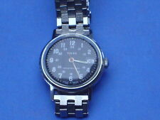 Vintage Timex military style watch with date and in full working order 1970s era