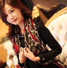 Stylish Women Leopard Stylish Long Soft Silk Chiffon Scarf Wrap Shawl Scarves
