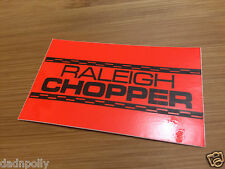 RALEIGH CHOPPER MK 1 SEAT PLATE DECAL - FLUORESCENT ORANGE  CHOPPER SEAT STICKER