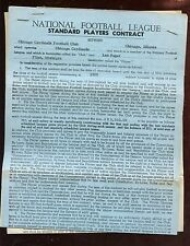 1959 NFL Football Chicago Cardinals Signed Player Contract Leo Sugar
