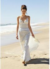 NICOLE MILLER BEADED WEDDING BRIDAL DRESS GOWN 0 $2600 LJ0002