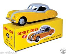 DISPONIBLE DINKY TOYS ATLAS JAGUAR XK 120 COUPE BICOLORE 1/43 REF 157 IN BOX