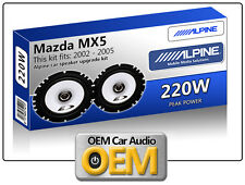 "Mazda MX5 Front Door speakers Alpine 17cm 6.5"" car speaker kit 220W Max Power"