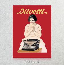 Olivetti - STAMPA SU TELA PER QUADRO 50x70 POSTER COLLEZIONE ARREDAMENTO CASA