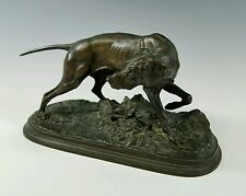 P.J. MENE - ANTIQUE 19th CENTURY FRENCH BRONZE SCULPTURE POINTER HUNTING DOG