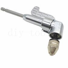 "Magnetic Bit Angle Driver Screwdriver Bits & Keyless Drill Chuck 1/4"" Hex Shank"