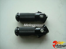 CNC Universal Motorcycle Folding Foot pegs Footpeg Rear set Rest Racing Black