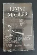 LEVINE MAHLER Symphony 4 in G Music Cassette NEW Free Shipping CHICAGO SYMPHONY
