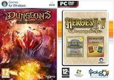 Heroes of Might & Magic III & IV complete & dungeons gold edition new&sealed