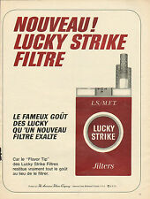 Publicité Advertising 1967  Cigarettes LUCKY STRIKE