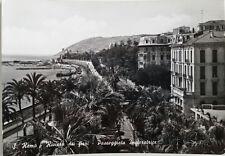 Cartolina San Remo Riviera dei Fiori Passeggiata imperatrice VIAGGIATA Postcard