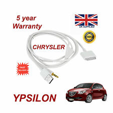 CHRYSLER YPSILON MULTIMEDIA ADAPTER 71805430 iPhone iPod USB & Aux Cable white