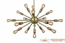 Sputnik Atomic Lamp Light Chandelier Satin Brass 50's Mid Century Modern Eames