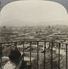Keystone Stereoview view overlooking Puebla, Mexico From RARE 1200 Card Set # 96
