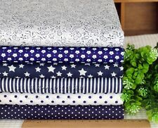 "New Navy 6 Assorted Pre Cut Charm 10"" Squares Quilt Cotton Fabric Craft   W005"