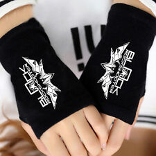 Anime Black Rock Shooter BRS Cosplay Cotton Knitted Gloves Fingerless Mittens