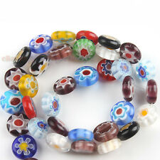 1String Nice Oblate Millefiori Lampwork Beads Charms Fit Jewelry Making J