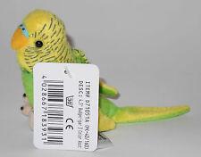 Neuware Vogel Wellensittich Sittich grün 11,5 cm