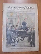 DOMENICA del CORRIERE 30/1921 Brescia: si prepara il circuito per il GP d'Italia