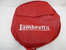 Spare Wheel Cover In Ox Blood Red With White Logo and Pocket to fit Lambretta