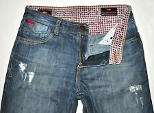 "Lee Cooper Men's Mid-Rise Slim Factory Distressed Jeans Sz 32 Actual W31"" L30.5"""