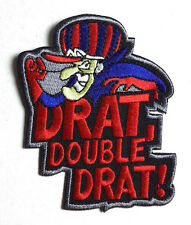 "Dick Dastardly 3.5"" Fully  Embroidered Patch- FREE S&H (EBPA-DickDastardly)"