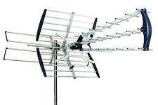 OUTDOOR HD TV ANTENNA AMPLIFIED DIRECTIONAL HDTV HIGH GAIN UHF VHF FM 180 MILES