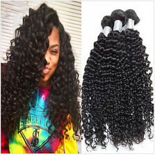 3Bundle Virgin Kinky Curly Human Hair Extensions 20INCH Brazilian Hair 150G weft
