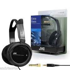 JVC Black Full Size Over Head Extra Bass Headphones New
