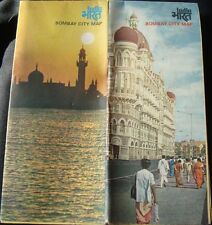 Old vintage Bombay City Map Tourism Folder Guide from India 1984