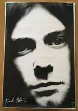 Kurt Cobain Poster Pin-up Head Shot Black & White Photo Nirvana Pyramid