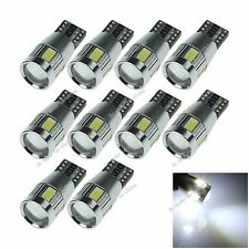 10X White 6 LED 5630 T10 W5W Lens Canbus Error Free Light Car Bulb Lamp 12V A121