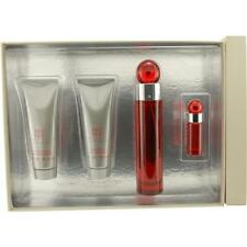 Perry Ellis 360 Red EDT Spray 3.4 oz & Shower Gel 3 oz & Aftershave Balm 3 oz &