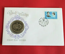 ISLE OF MAN 1981 CHARLES AND DIANA ROYAL WEDDING ARMORIAL CROWN - coin cover