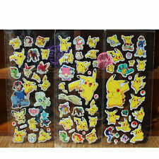 3 Sheets New Pokemon Stickers Pikachu Pocket Monster Scrapbooking Sticker DIY W8