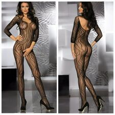 Sexy lingerie fishnet crotchless bodystocking bodysuit nightwear one size/UK6-14