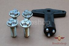 Ford RS Alloy Wheel Centre Cap Key with Screws Bolts