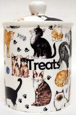 CAT DOLCETTI contenitore BONE CHINA cani Collage alimenti per animali da compagnia DOLCETTI Storage Jar Decor UK