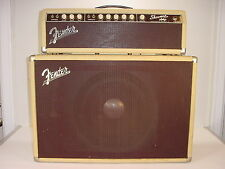 "Vintage 1963 Fender Showman Blonde Tube Amp Head + 12"" JBL Tone Ring Speaker Cab"