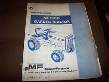 1978 Massey-Ferguson MF 1200 Lawn Garden Tractor Parts Book Manual