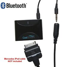 Bluetooth Adapter for Mercedes iPhone iPod Cable with 30 Pin and AUX Jack