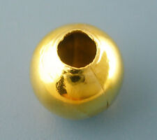 50 Gold Plated Smooth Round Ball Spacer Beads 10mm bme0057